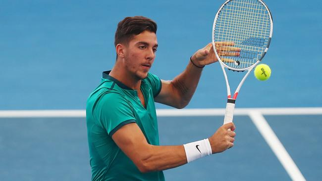 thanasi kokkinakis falls in lyon daria gavrilova wins in strasbourg herald sun. Black Bedroom Furniture Sets. Home Design Ideas