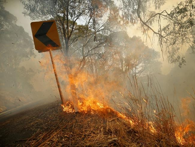 Many areas of Australia are facing early season bushfires, hotter temperatures and below average rain in the months ahead. Picture: Getty