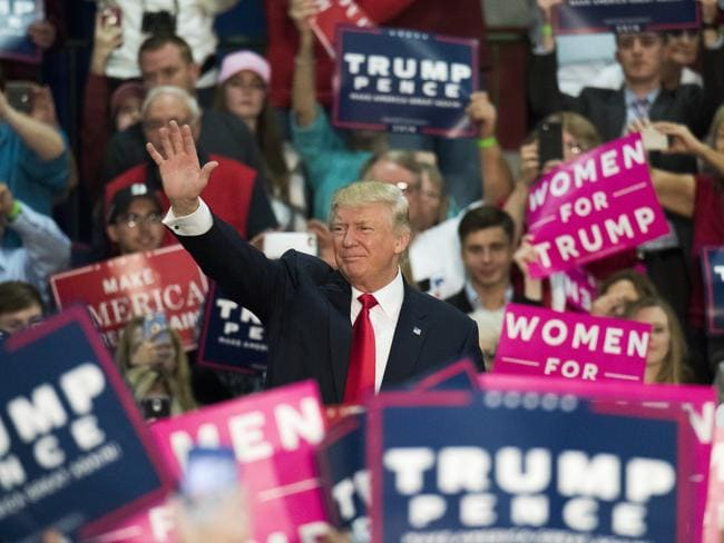 Donald Trump was a master campaigner, whipping up huge support across the US. Picture: Ty Wright /Bloomberg