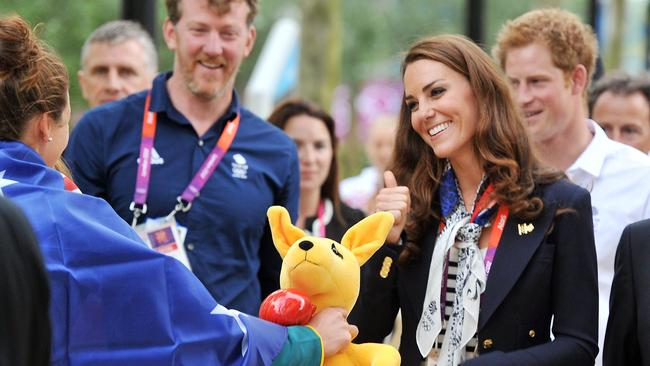 The Aussie athletes even had a visit from a princess in London. Picture: John Stillwell/AFP