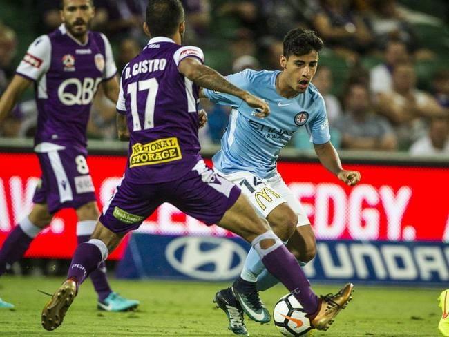 Daniel Arzani was accused of going down too easy to win a penalty.