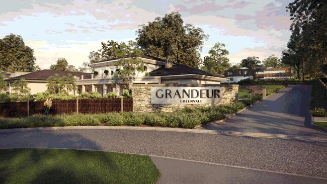 A render of the Grandeur development in Greenvale where block sizes start from 2000sq m.