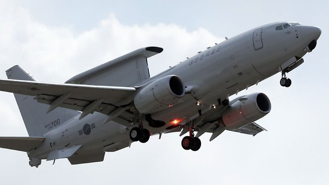 """South Korean Air Force's E-737 Peace Eye, airborne early warning and control (AEW&C) aircraft. South Korean and US forces raised their alert status to """"vital threat"""" before an expected North Korean missile test."""