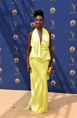 Supporting actress in a limited series or movie nominee Adina Porter arrives for the 70th Emmy Awards at the Microsoft Theatre in Los Angeles, California on September 17, 2018. (Photo by VALERIE MACON / AFP)