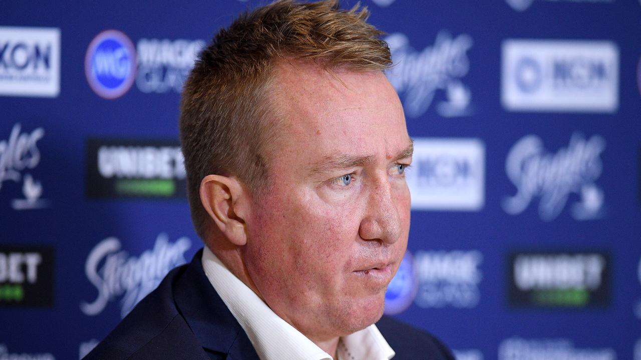 Roosters coach Trent Robinson took exception to a reporter's question.