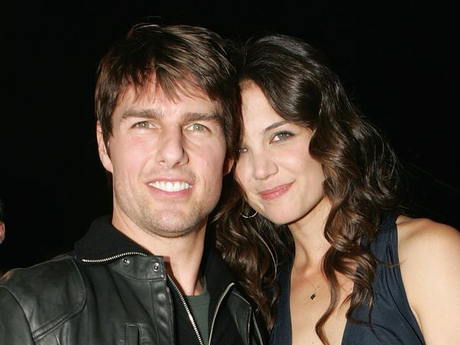 Happier times ... Katie Holmes converted from being a Catholic to being a Scientologist when she married Tom Cruise. Picture: Getty