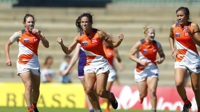 Amanda Farrugia says the Giants' momentum is building. Photo: James Worsfold/Getty Images