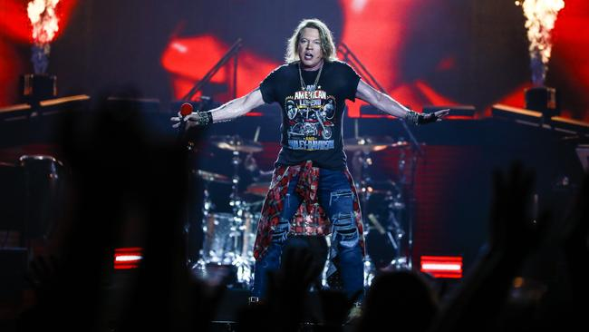 Guns N Roses brought rock back to the ANZ Stadium last month. Picture: Dylan Robinson