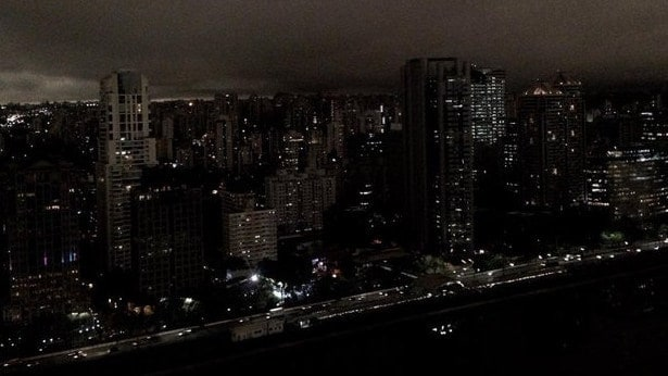 Sao Paulo was plunged into darkness in the middle of the afternoon.