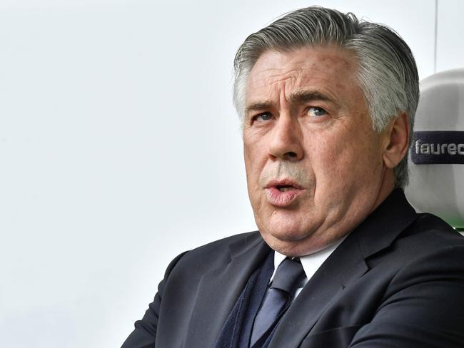 Carlo Ancelotti. / AFP PHOTO / John MACDOUGALL
