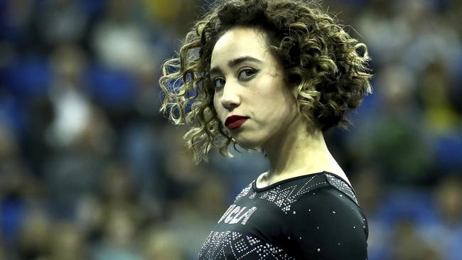 But it hasn't been as easy as it seems for the gymnast. Picture: AP Photo/Ben Liebenberg