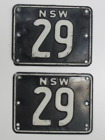 nsw 29 licence number plate sells for record 745 000 at shannons auction daily telegraph. Black Bedroom Furniture Sets. Home Design Ideas