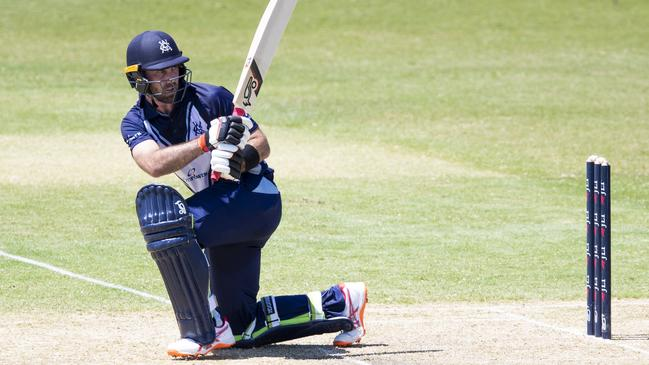 Maxwell made a confident 80 off 91 balls as Victoria were bowled out by Queensland for a scratchy 240.