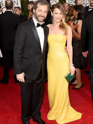 Power pair ... producer Judd Apatow and actress Leslie Mann. Picture: Getty Images