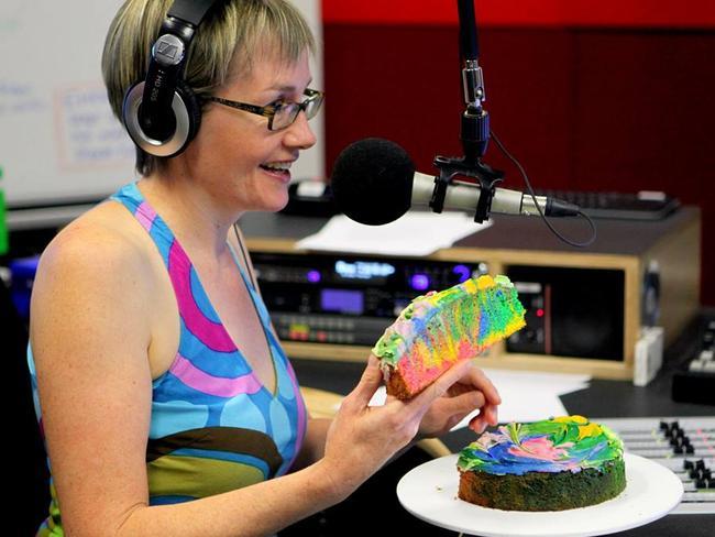 Canberra radio presenter Lish Fejer regularly brings cake into work.