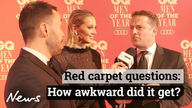 GQ Red carpet questions. How awkward did it get?