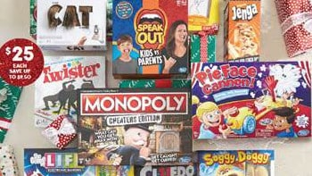 Selected board games for $25 are among the top picks. Picture: Target