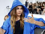 Cara Delevingne attends Chanel's Spring/Summer 2016 women's ready-to-wear show during Paris Fashion Week. Picture: Reuters