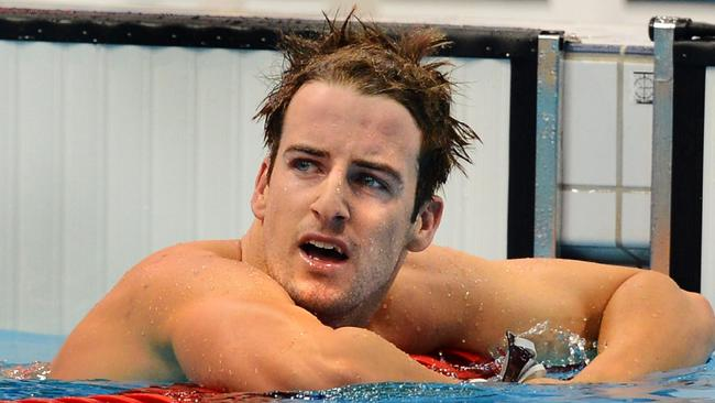 James Magnussen after bombing in the 100m freestyle at the London Olympics.