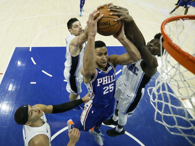 Simmons has got a long way on his dunk.