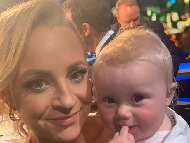 Last year Carrie spoke openly about how she had struggled to go back to work after her maternity leave ended. Picture: Instagram/bickmorecarrie