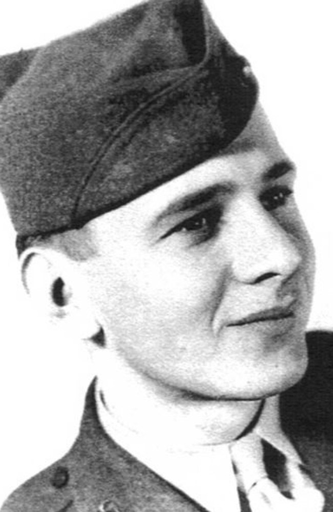 Edgar Harrell as a 20-year-old in 1945 — he joined when he was just 18. Picture: Supplied.
