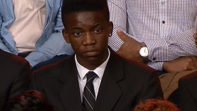 Jordan, a Melbourne teen who asked how stereotypes of Africans can be overcomes, has likely not been on Sunrise.