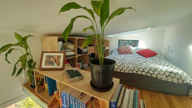The couple's small upstairs space serves as a sleeping loft. Picture: Media Drum World/Australscope