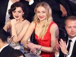 Maisie Williams and Sophie Turner during The 23rd Annual Screen Actors Guild Awards at The Shrine Auditorium on January 29, 2017 in Los Angeles, California. Picture: Getty