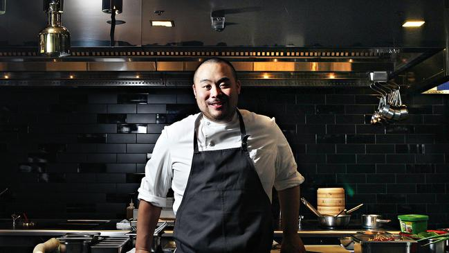 Korean-American chef David Chang in his restaurant Momofuku Seiobo at The Star in Sydney. Picture: News Corp Australia