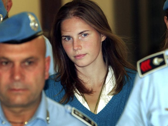 Italian police believed Meredith Kercher's murder was a sex game gone wrong with Amanda Knox and her boyfriend. Picture: AP Photo/Pier Paolo Cito