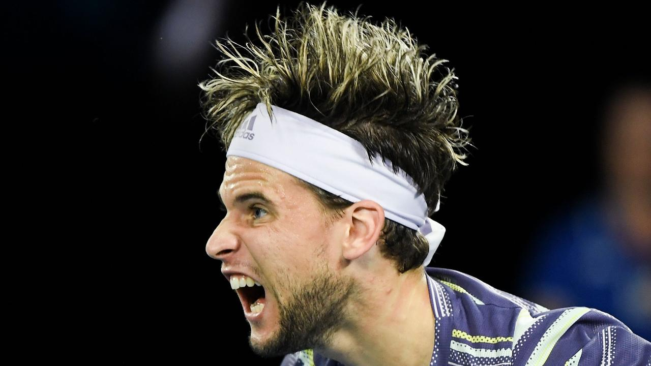 Australian Open 2020 Dominic Thiem S Hair Frosted Tips Why Did Thiem Do That To His Hair Men S Finalist Roasted For Look Fox Sports