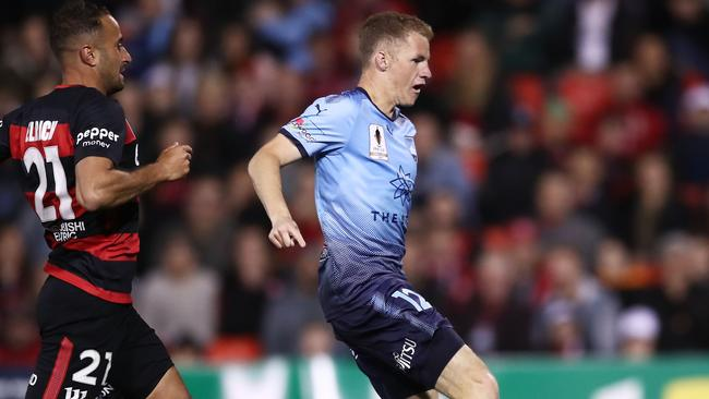 Sydney FC forward Trent Buhagiar suffered a serious knee injury at training. Picture: Getty Images