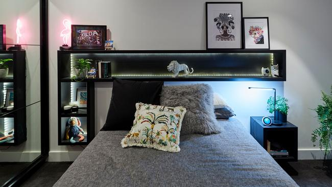 The shelf above the pillows was a strange design decision, according to the judges. Source: The Block