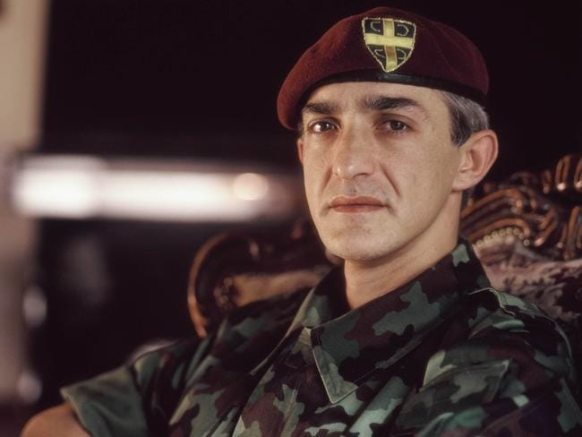 Military commander in the feared Red Berets ... Serbian Captain Dragan Vasiljkovic pictured in Krajina, Croatia in 1994. Picture: Supplied.