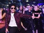 Bruno Mars and Miley Cyrus attend the 60th Annual GRAMMY Awards at Madison Square Garden on January 28, 2018 in New York City. Picture: Getty