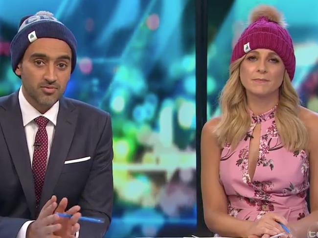 All Project panellists wore beanies for the special program. Picture: Channel 10