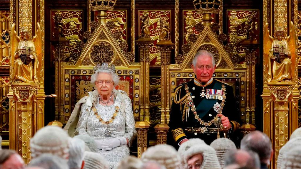 Prince Charles, seated next to his mother, Queen Elizabeth, before the state opening of parliament in October 2019. Picture: Tolga Akmen/Agence France-Presse/Getty Images.