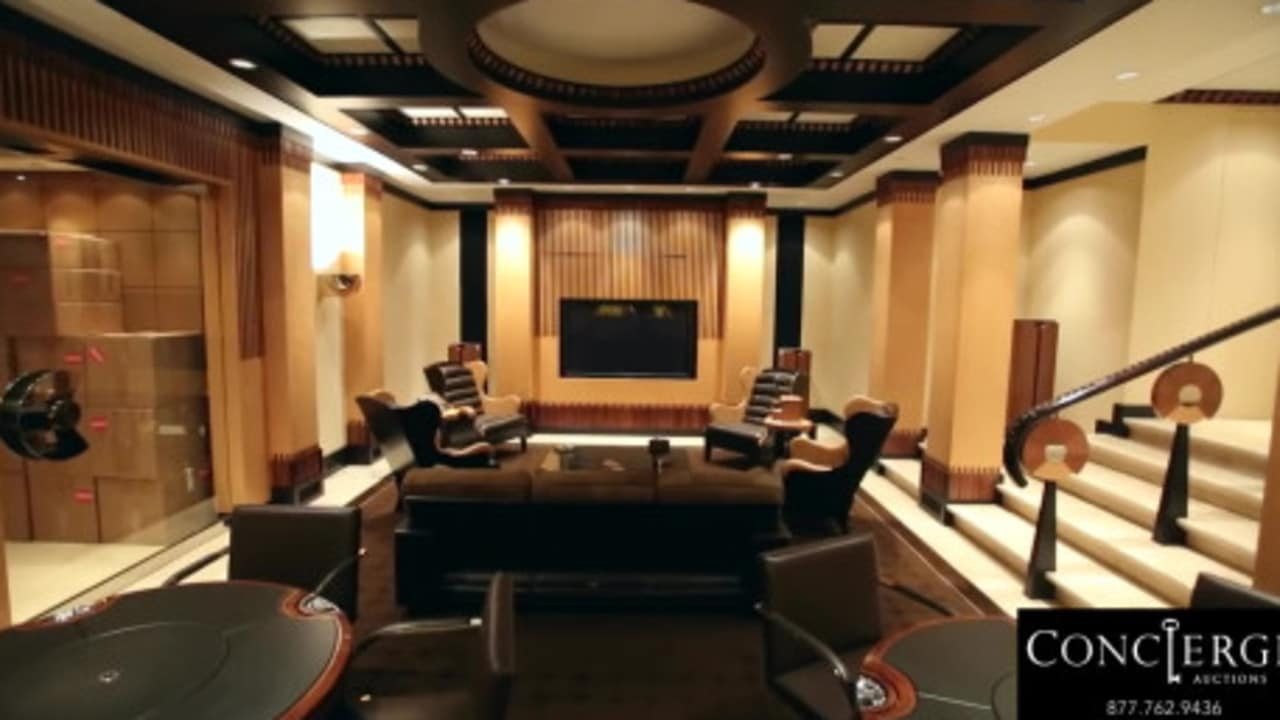 Now in retirement Jordan has taken up all the luxuries of life with his own cigar room. Credit: Concierge Auctions
