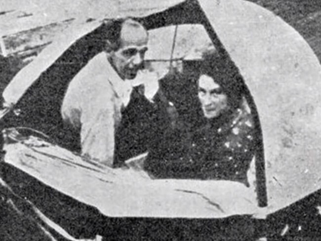 Maurice and Maralyn Bailey pictured in their raft during their rescue.