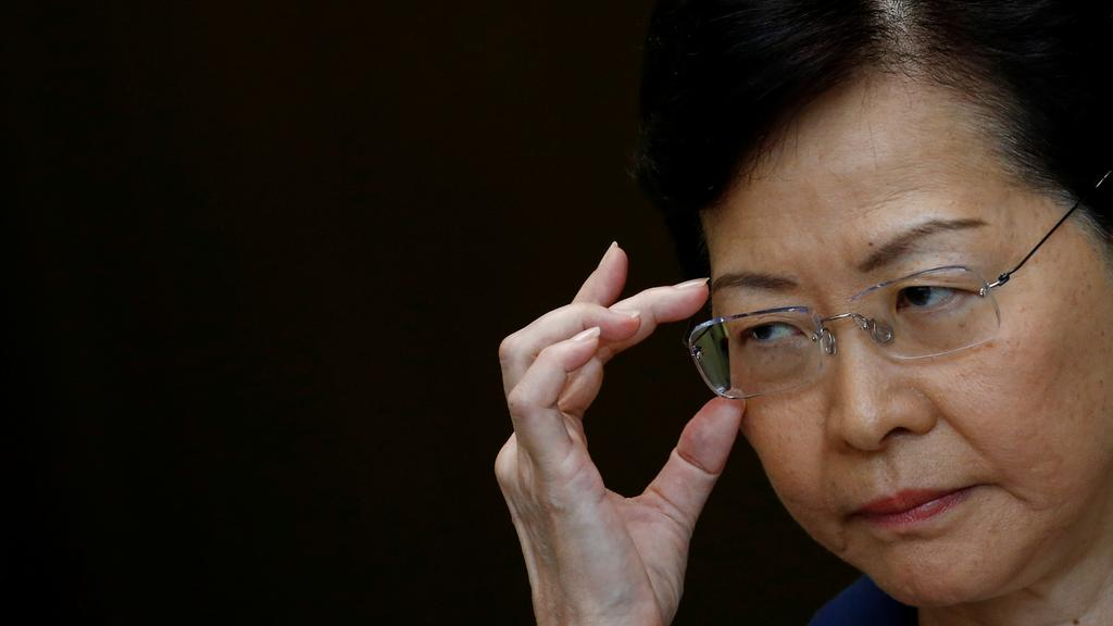 Hong Kong's beleaguered Chief Executive Carrie Lam. Picture: Reuters/Thomas Peter