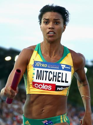 Morgan Mitchell competes in 2017 Nitro Athletics Series in Melbourne.