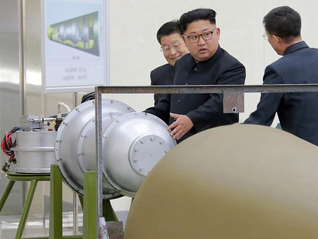 Questions remain over whether nuclear-armed Pyongyang has successfully miniaturised its weapons. Picture: Korean Central News Agency/Korea News Service via AP