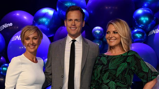 Today Show presenters Deb Knight, Tom Steinfort and Georgie Gardner. Picture: AAP Image/Bianca De Marchi