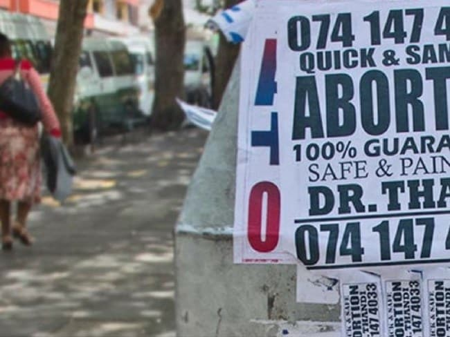 The numbers used by illegal abortion providers change regularly making it extremely hard for authorities to prosecute. Photo: Marie Stopes South Africa