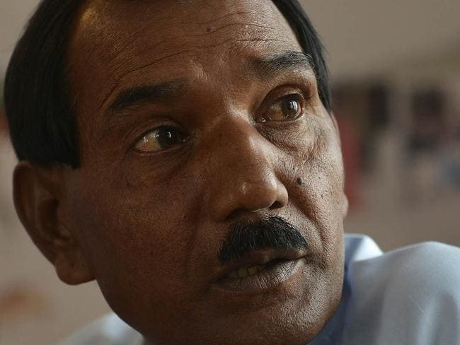Ashiq Masih, lives in hiding because of his wife's conviction.