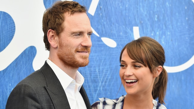 Michael Fassbender and his wife Alicia Vikander. Photo: WireImage