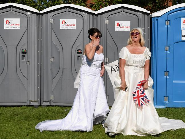 We're guessing Meghan won't be using the portaloos. Picture: Getty