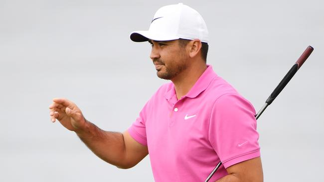 Jason Day was five shots behind leader Justin Rose after the first round at Pebble Beach. Picture: Getty Images