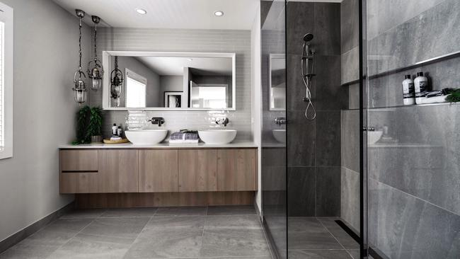 The ensuite has a spacious feel.